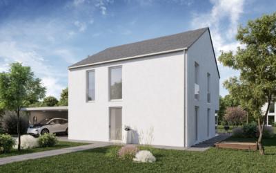 Die Erste Neubauten-Plusenergiehaus-Siedlung